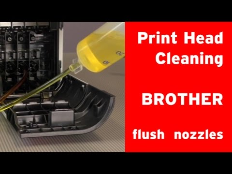 How to clean Brother inkjet printer´s print head clogged nozzles?