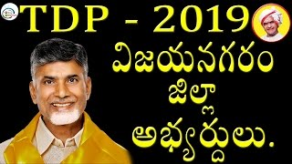 Vizianagaram District TDP Candidates On 2019 Ap Elections    2day2morrow