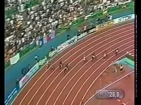 Michael Johnson -  World Record 400m - 43.18 - High Quality