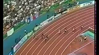 Michael Johnson -  World Record 400m - 43.18 - High Quality