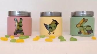 DIY: maalatut lasipurkit