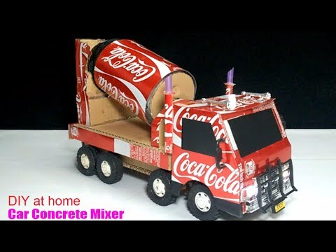 How to make a Concrete Mix Truck from Coca Cola - Truck (Remote Control) Amazing of Coca Cola!