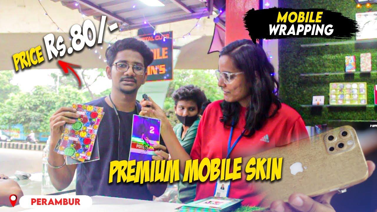 Mobile Wrapping at Rs.80/- | Premium Mobile Skins | Crystal Cuts - Perambur | D hippo