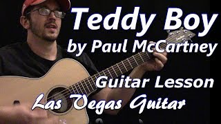 Teddy Boy By Paul McCartney Guitar Lesson