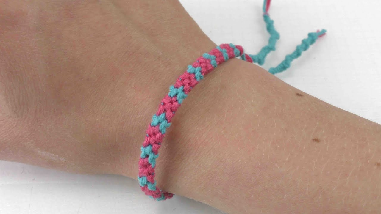 freundschaftsband knpfen mit sem muster und spiralen - Armbander Knupfen Muster