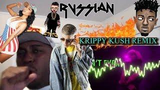 Farruko, Nicki Minaj, Bad Bunny - Krippy Kush (Remix) ft. 21 Savage, Rvssian REACTION!!!