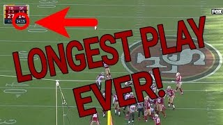 The Play that Lasted the Whole Quarter... MADDEN MOBILE CHALLENGE! LONGEST PLAY EVER CHALLENGE!