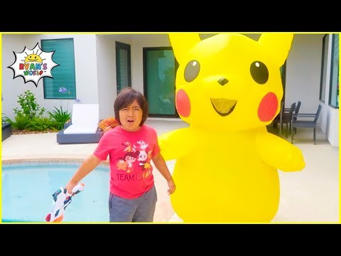 Ryan and Pokemon Pikachu Pretend Play find Daddy Story!!!