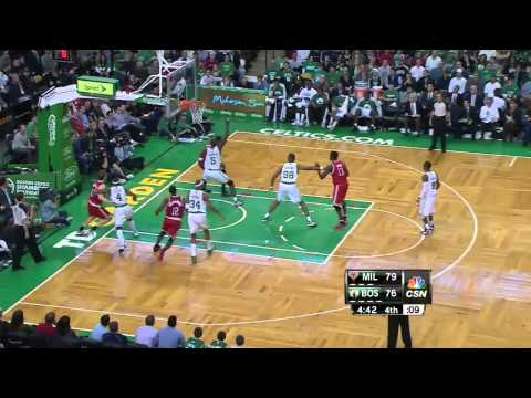 Larry Sanders 17 points 20 rebounds (sick alley oop) vs Boston Celtics full highlights 12/21/2012