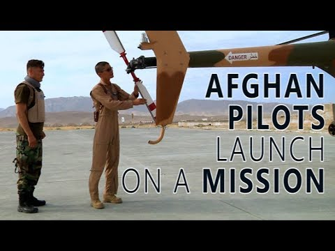 Afghan Pilots Launch on a Mission