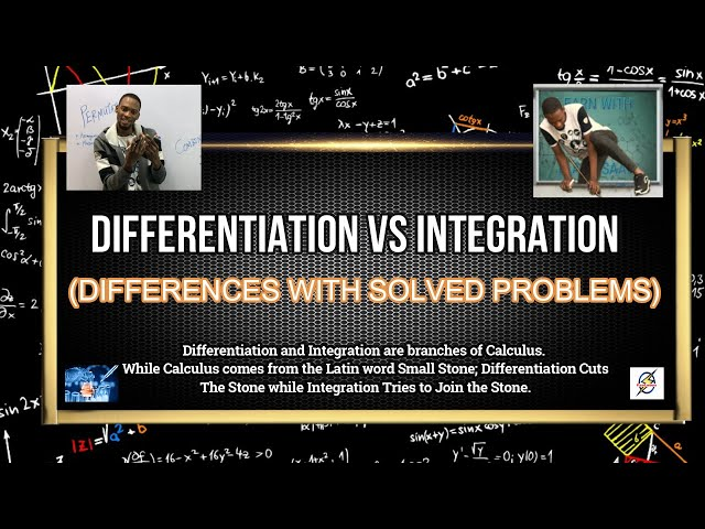 Differentiation vs Integration   Similarities & Differences
