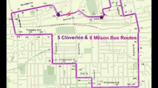 5. Cloverlea 6. Milson - Bus Routes