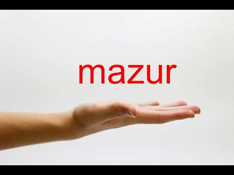 How to Pronounce mazur  American English