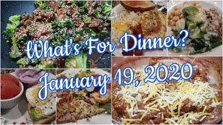 What's For Dinner? Jan 19, 2020 | Cooking for Two | Easy Weeknight Meals