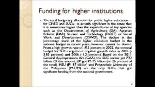 Higher Education in the Philippines by: Mr. Mateo V. Valdez