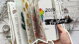 My 2019 Bullet Journal flipthrough 📖 a year in my journal