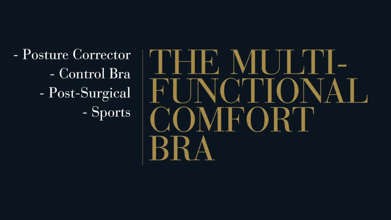 Leonisa Posture Corrector Back Support Wireless Bra 011473 - YouTube 15fac6e5a