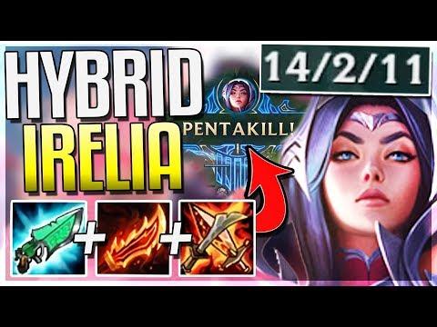 HYBRID AP IRELIA REWORK PENTAKILL!! THIS BUILD IS BROKEN! Irelia Mid Gameplay | League of Legends