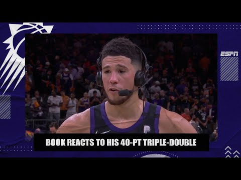 Devin Booker reacts to his 40-point triple-double in Game 1 of Suns vs. Clippers  NBA on ESPN