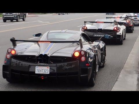 Flame Shooting Paganis And LOUD Koenigseggs CRASH Lamborghini Newport Beach  Show!!!