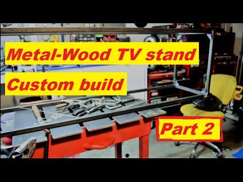 Metal-Wood TV stand build part 2