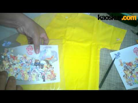 3 ways how to put transfer paper 3G opaque on T-Shirt