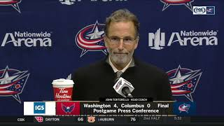 Coach Tortorella was at a loss for words after the Jacket