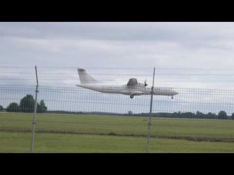 Finnair ATR 72-500 landing in Tartu airport