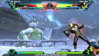 UMVC3: Mr Sparkle vs Haiku War - Round Robin - LOST IN SPACE 003
