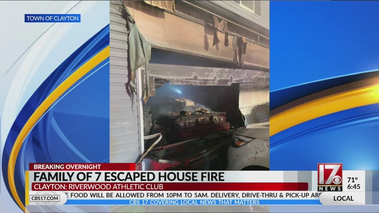 Family of 7 escapes house fire in Clayton