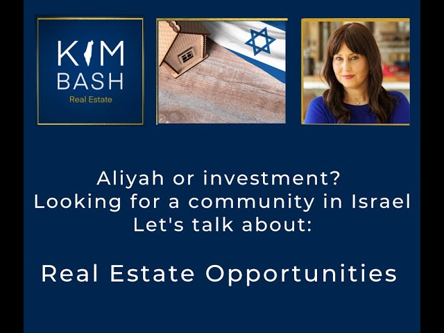 Webinar: Making Aliyah and Buying a Home in Israel
