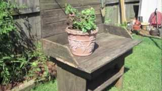 Building A Potting Bench With Recycled Planks