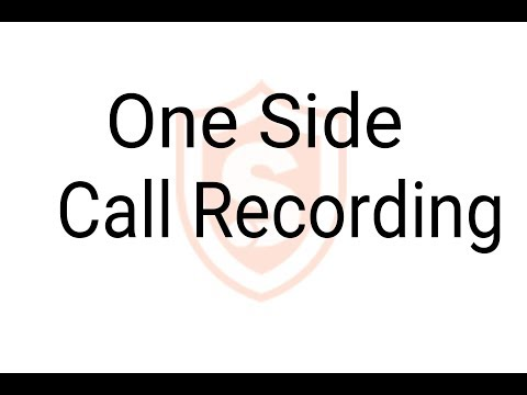 Call Recording One Side Issue