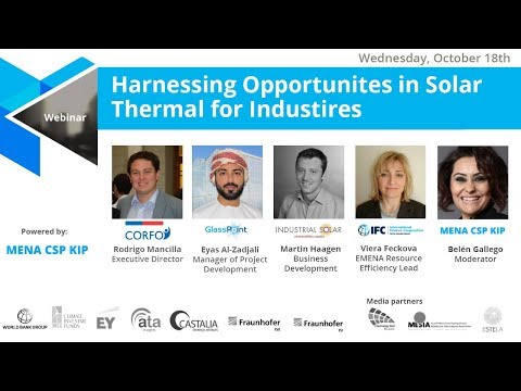 Webinar: Harnessing opportunities for concentrating solar thermal in industry