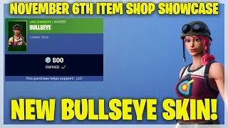 Fortnite Item Shop NEW BULLSEYE SKIN! [November 6th, 2018] (Fortnite Battle Royale)