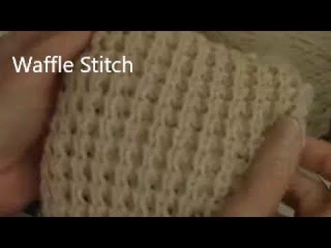 waffle stitch to machine knit by diana sullivan youtube