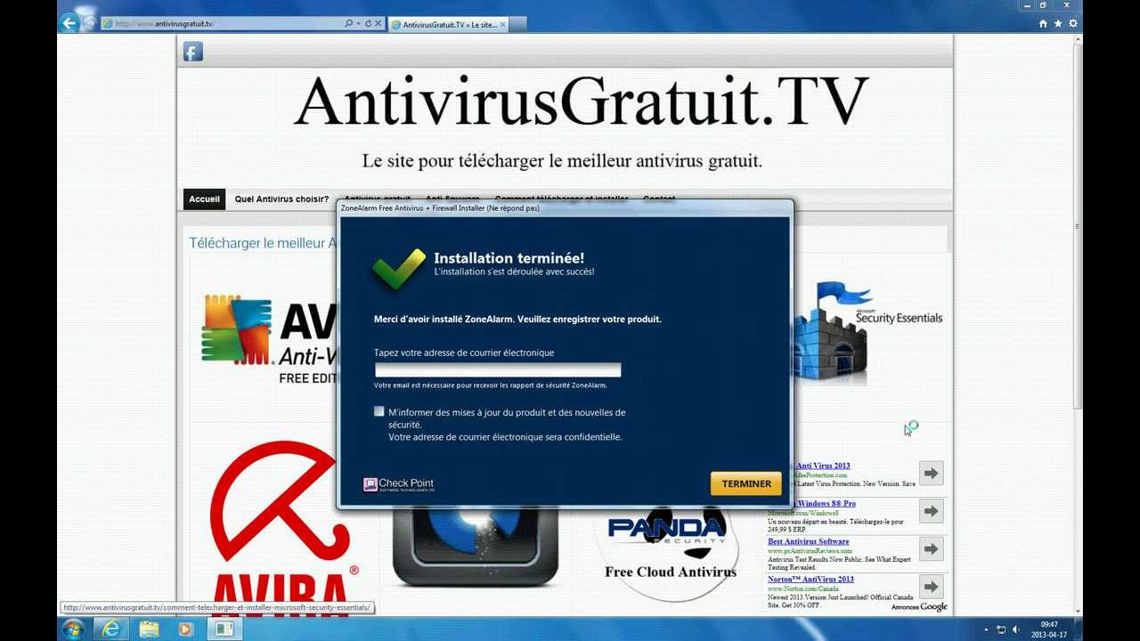 test t l charger et installer l 39 antivirus gratuit zonealarm youtube. Black Bedroom Furniture Sets. Home Design Ideas