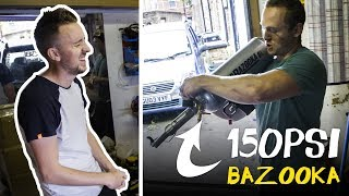 Getting Shot By A 150PSI Bazooka Funny Outtakes