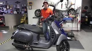 Vespa GTS Carbon Fiber Super with Performance Motor
