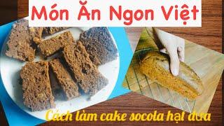 Cách làm cake socola hạt dưa