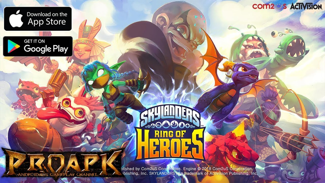 Skylanders Ring Of Heroes Gameplay Android Ios By Com2us