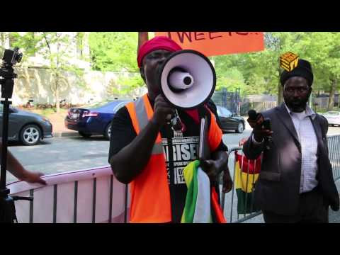 Ghanaians Protest At Washington DC Embassy