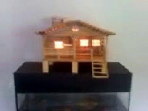 Banco con pinzas de madera manualidades bench or sofa - Como hacer casas en miniatura ...