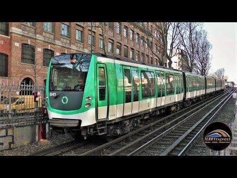 Paris Métro : Les 6 lignes de métro aérien - Matériel MP05, MP73, MF77, MF01