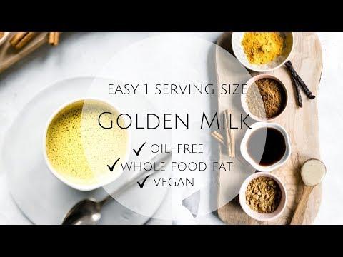 GOLDEN MILK (easy 1 serving recipe / oil-free)