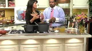 Holly Clegg's Trim & Terrific Kitchen: Crawfish/sweet Potato Bisque - Part 1