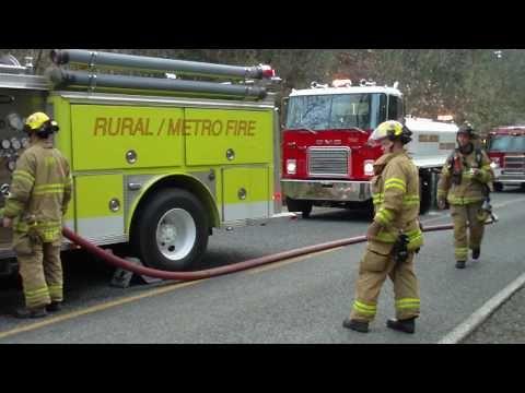 Travel Trailers on Fire. Josephine County, Oregon