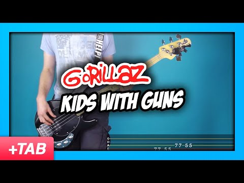 Gorillaz - Kids with Guns | Bass Cover with Live Tabs