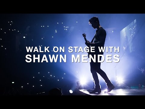 Walk on stage with Shawn Mendes on the...