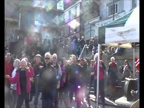 Flashmob at Chepstow